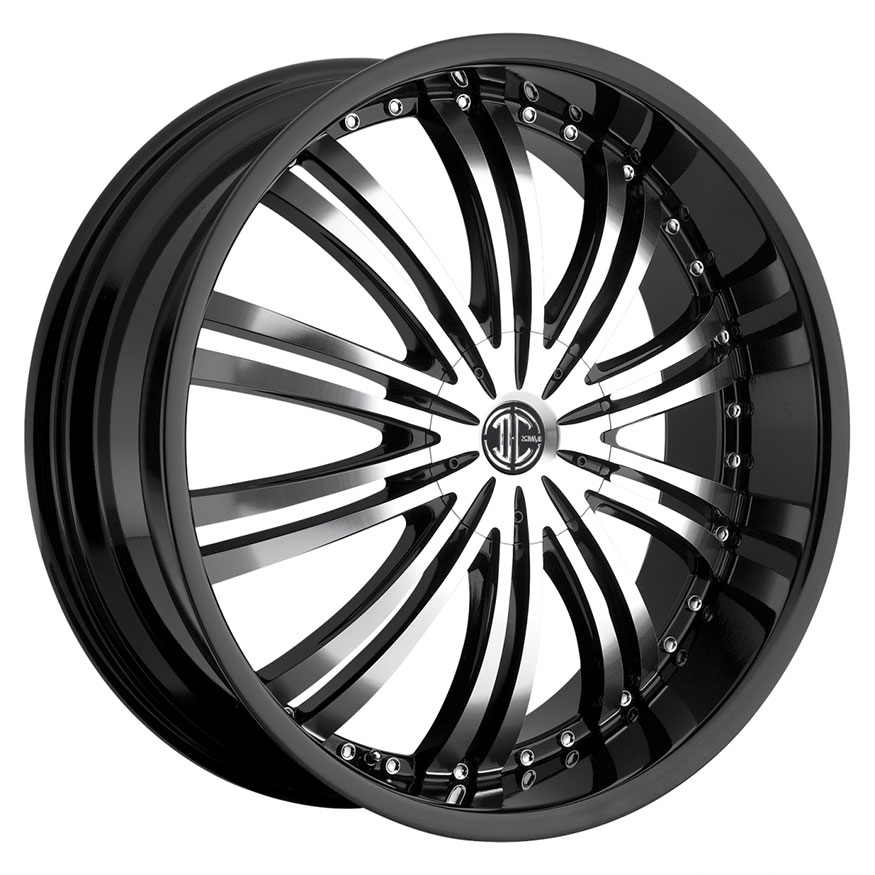 2Crave No.1 Wheel Rim 20x8.5 5x110 ET+40mm 74.10mm Glossy Black/ Machined Face