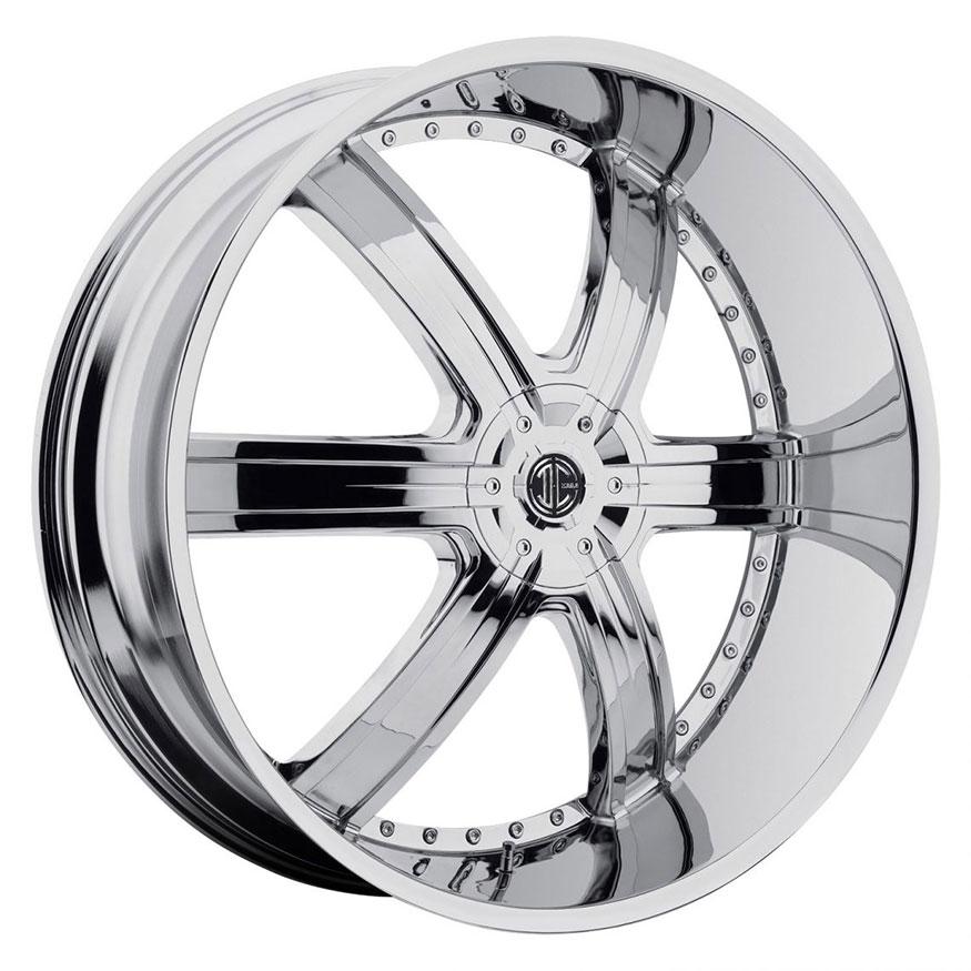 2Crave No.4 Wheel Rim 20x9.5 5x115/5x120 ET+15mm 74.10mm Chrome