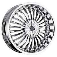2Crave No.13 Wheel Rim 18x7.5 4x100/4x114.3 ET+40mm 72.56mm Chrome