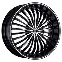 2Crave No.13 Wheel Rim 18x7.5 4x100/4x114.3 ET+40mm 72.56mm Glossy Black/ Machined Face/ Chrome Lip