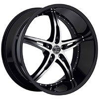 2Crave No.14 Wheel Rim 18x7.5 5x100 ET+40mm 72.56mm Glossy Black/ Machined Face
