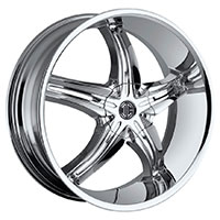 2Crave No.15 Wheel Rim 22x9.5 5x114.3/5x120.65 ET+15mm 78.30mm Chrome