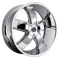 2Crave No.18 Wheel Rim 20x9.5 5x115/5x120 ET+15mm 74.10mm Chrome