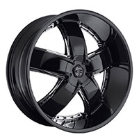 2Crave No.18 Wheel Rim 24x9.5 ET+15mm 78.30mm Glossy Black/ Machine Spoke