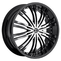 2Crave No.1 Wheel Rim 20x8.5 5x114.3 ET+40mm 74.10mm Glossy Black/ Machined Face