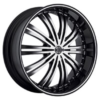 2Crave No.1 Wheel Rim 20x8.5 5x112/5x114.3 ET+40mm 74.10mm Glossy Black/ Machined Face/ Chrome Lip