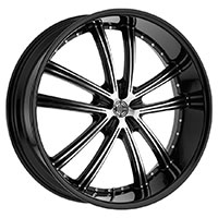 2Crave No.24 Wheel Rim 18x7.5 4x100/4x114.3 ET+40mm 72.56mm Glossy Black/ Machined Face