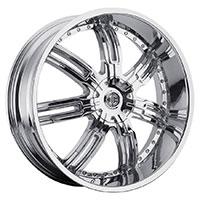 2Crave No.27 Wheel Rim 22x9.5 5x114.3 ET+18mm 78.30mm Chrome