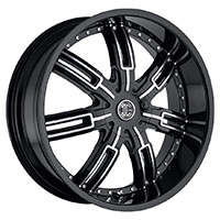 2Crave No.27 Wheel Rim 22x9.5 5x114.3 ET+35mm 78.30mm Glossy Black / Machined Face