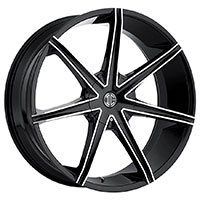 2Crave No.29 Wheel Rim 22x9.5 6x135/6x139.7 ET+30mm 87.00mm Glossy Black/ Machined Face