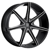 2Crave No.29 Wheel Rim 22x9.5 6x135/6x139.7 ET+30mm 87.00mm Glossy Black/ Machined Face