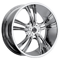 2Crave No.2 Wheel Rim 18x7.5 5x114.3 ET+40mm 72.56mm Chrome