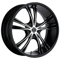 2Crave No.2 Wheel Rim 18x7.5 5x112/5x114.3 ET+40mm 72.56mm Glossy Black/ Machined Face