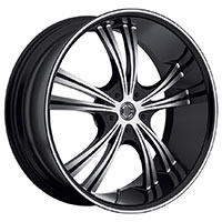 2Crave No.2 Wheel Rim 18x7.5 5x112/5x114.3 ET+40mm 72.56mm Glossy Black/ Machined Face/ Chrome Lip