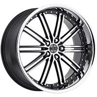 2Crave No.33 Wheel Rim 20x10 ET+20mm 74.10mm Glossy Black/ Machined Face/ Chrome Lip