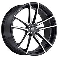 2Crave No.34 Wheel Rim 20x10 ET+20mm 74.10mm Glossy Black/ Machined Face