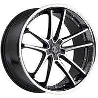 2Crave No.34 Wheel Rim 20x10 ET+20mm 74.10mm Glossy Black/ Machined Face/ Chrome Lip