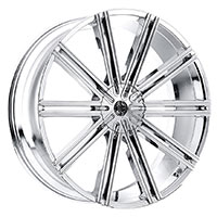 2Crave No.37 Wheel Rim 18x7.5 4x100/4x114.3 ET+40mm 72.56mm Chrome