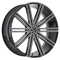 2Crave No.37 Wheel Rim 18x7.5 5x114.3 ET+40mm 72.56mm Glossy Black/ Machined Face
