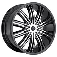 2Crave No.7 Wheel Rim 20x9.5 5x114.3/5x127 ET+18mm 78.30mm Glossy Black/ Machined Face