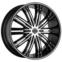2Crave No.7 Wheel Rim 20x9.5 5x114.3/5x127 ET+30mm 83.70mm Glossy Black/ Machined Face & Lip