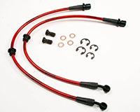 Agency Power Rear Steel Braided Brake Lines Subaru WRX 06-12 STI 04-12