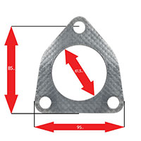 Apexi Triangle Muffler Gasket, 3-Bolt (Acura, Honda) NA PCD85mm D-55mm
