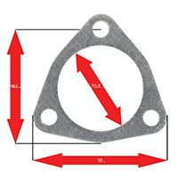 Apexi Triangle Muffler/Downpipe Gasket, 3-Bolt (Nissan) Turbo PCD98.2mm D-70.8mm