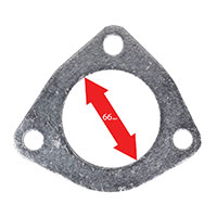 Apexi Triangle Muffler/Downpipe Gasket, 3-Bolt (Toyota) NA/TB D-66mm