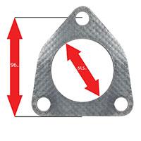 Apexi Triangle Muffler Gasket, 3-Bolt (Honda) PCD-96mm D-61.5mm