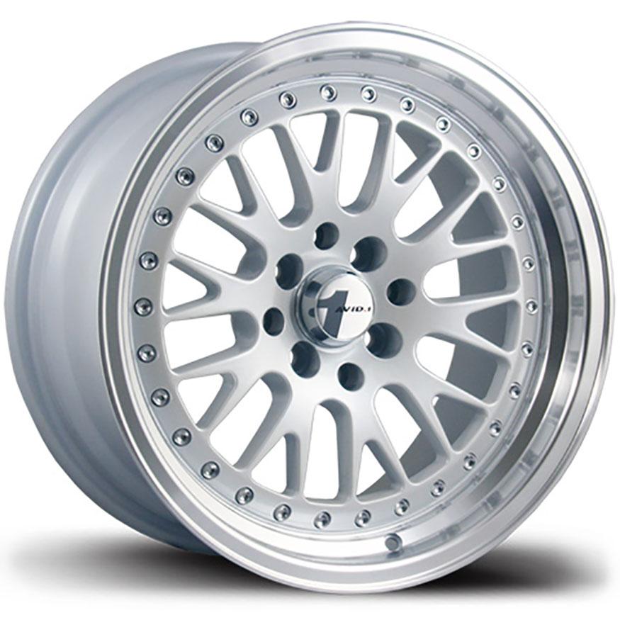 AVID1 AV 12 Wheel Rim 15x8 4x100 ET25 73 1 White/Machined Lip