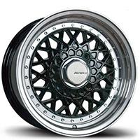 AVID1 AV 05 Wheel Rim 15x8 4x100/114.3 ET20 73.1 Black Face w/ Polished Lip