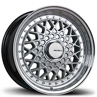 AVID1 AV 05 Wheel Rim 15x8 4x100/114.3 ET20 73.1 Hyper Silver Face w/ Polished Lip