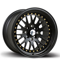 AVID1 AV 12 Wheel Rim 15x8 4x100 ET25 73.1 All Black/ Gold Rivets