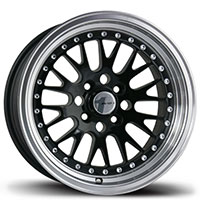 AVID1 AV 12 Wheel Rim 15x8 4x100 ET25 73.1 Black/Machined Lip