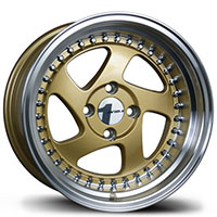 AVID1 AV 19 Wheel Rim 15x8 4x100 ET25 73.1 Gold/Polished Lip