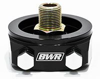 Blackworks Racing Oil Filter Adapter: Honda/Acura (Black)