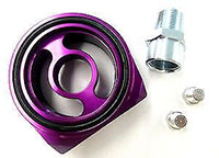 Blackworks Racing Oil Filter Adapter: Honda/Acura (Purple)