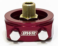 Blackworks Racing Oil Filter Adapter: Honda/Acura (Red)