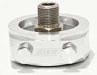 Blackworks Racing Oil Filter Adapter: Honda/Acura (Silver)