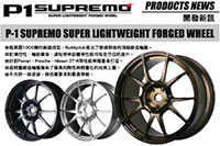 Buddy Club P1 Supremo Forged 20X10 ET40 5X114.3 Gunmetal (GT-R Front)