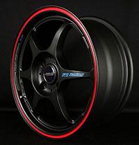 Buddy Club P1 Racing SF Challenge 15X6.5 ET42 4X100 Matte Black w/Red