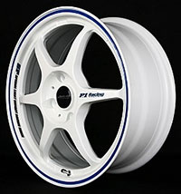 Buddy Club P1 Racing SF Challenge 16X7.0 ET42 4X100 White w/Blue