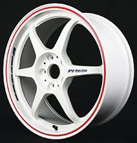 Buddy Club P1 Racing SF Challenge 16X7.0 ET42 4X100 White w/Red