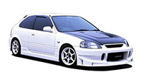 Buddy Club Side Skirts EK Hatch 96-00