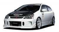Buddy Club Side Skirts Civic EP3 02-05 3D Si