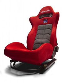 Buddy Club Racing Spec Sport Reclinable Seat Red w/adaptor plate