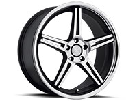 Concept One CS5.0 Wheel Rim 20x10.5 5x112-120 ET27-45 73.1 Matte Black/Machined/Glossy Black Lip
