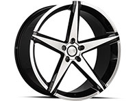 Concept One CSM02 Wheel Rim 22x10.5 5x108-120 ET35-45 66.56 Black Machined