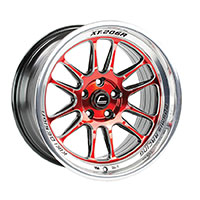 Cosmis Racing XT206R Wheel Rim 18x11 5X114.3 ET8 Red w/ Machined Lip